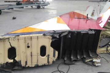 Airliner tail ready for recycling