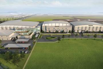 Artist rendering of planned Bombardier Singapore Expansion