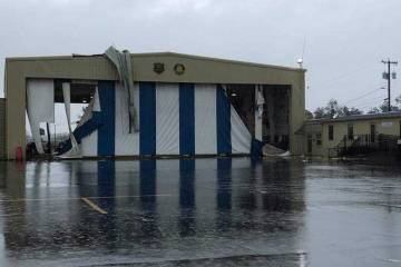 Damaged hangar at TLH