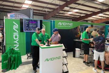 Avidyne Sun 'n Fun booth (Photo: Chad Trautvetter/AIN)