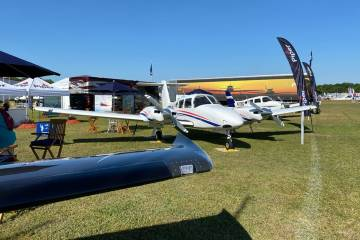 Piper Aircraft exhibit at Sun 'n Fun 2021