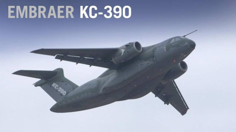 Embraer KC-390 Military Transport Flying Display at Farnborough Airshow