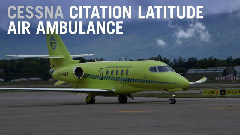Textron Aviation Builds First Latitude Air Ambulance for Norway