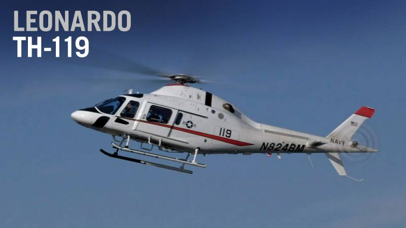 Meet the U.S. Navy's New Training Helicopter, the Leonardo TH-119 - AIN